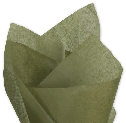Solid Tissue Paper, Olive Green, 20 x 30""