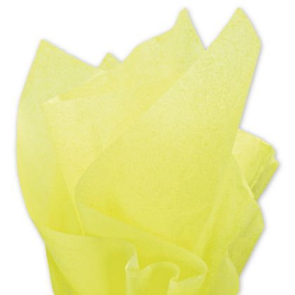 """Solid Tissue Paper, Limon, 20 x 30"""""""