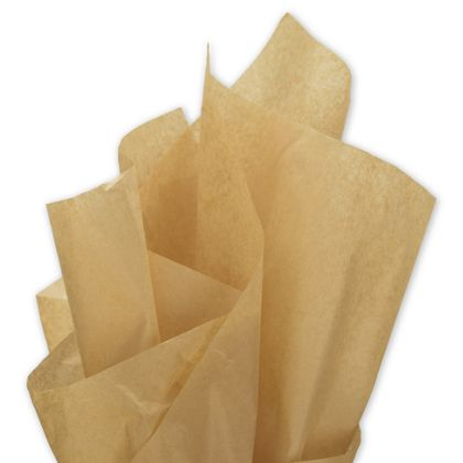 Solid Tissue Paper, Recycled Kraft, 15 x 20""