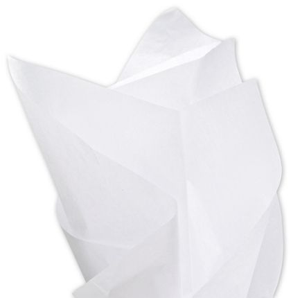 Solid Tissue Paper, White, 15 x 20""