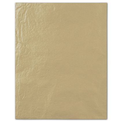 """Double Sided Gold Pearlesence Tissue Paper, 20 x 30"""""""