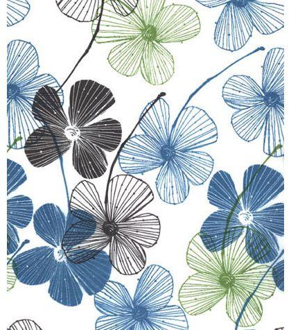 "Floral Lines Tissue Paper, 20 x 30"""