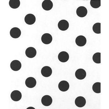 Black Dots on White Tissue Paper, 20 x 30