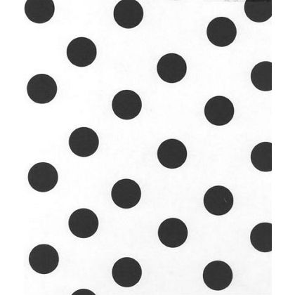 Black Dots on White Tissue Paper, 20 x 30""