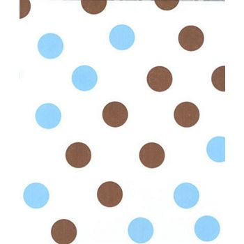 Brown & Blue Dots Tissue Paper, 20 x 30