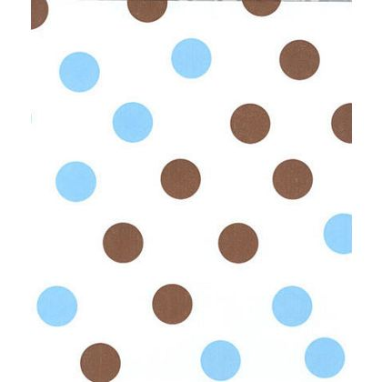 Brown & Blue Dots Tissue Paper, 20 x 30""