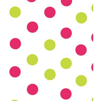 Pink & Green Dots Tissue Paper, 20 x 30