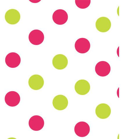 Pink & Green Dots Tissue Paper, 20 x 30""