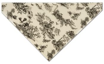 Black on Oatmeal Toile Tissue Paper, 20 x 30