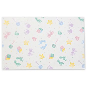 Baby Prints Tissue Paper, 20 x 30