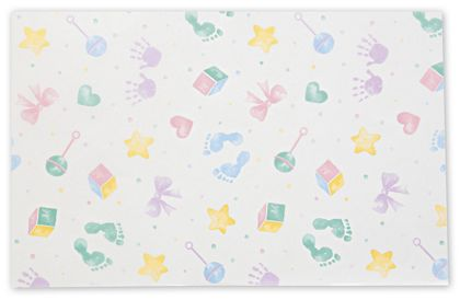Baby Prints Tissue Paper, 20 x 30""