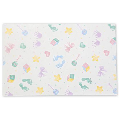 "Baby Prints Tissue Paper, 20 x 30"""