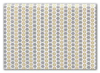 Black & Gold Snowflake Tissue Paper, 20 x 30