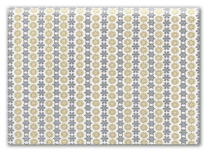 "Black & Gold Snowflake Tissue Paper, 20 x 30"""