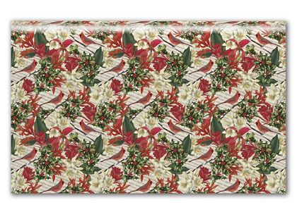 Cardinal & Holly Tissue Paper, 20 x 30""