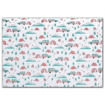 Happy Camper Tissue Paper, 20 x 30