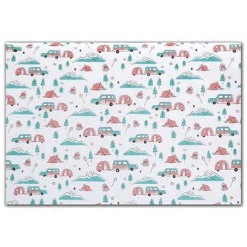 Happy Camper Tissue Paper, 20 x 30