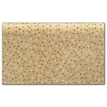 Holiday Dots Tissue Paper, 20 x 30""