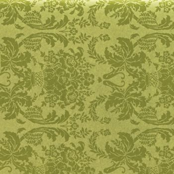 Pistachio Damask Tissue Paper, 20 x 30