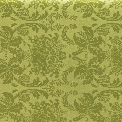 "Pistachio Damask Tissue Paper, 20 x 30"""