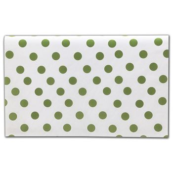 Green Dots Tissue Paper, 20 x 30