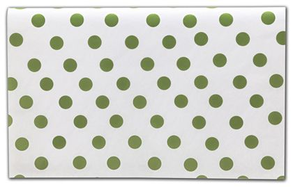Green Dots Tissue Paper, 20 x 30""