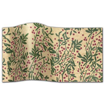 "Happy Holly Days Tissue Paper, 20 x 30"""