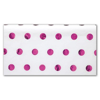 Hot Pink Hot Dots Tissue Paper, 20 x 30""