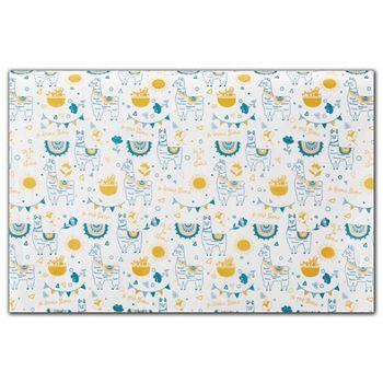 "Oh La La Llama Tissue Paper, 20 x 30"""