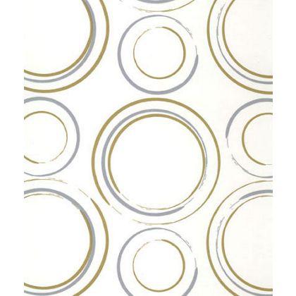"Metallic Circles Tissue Paper, 20 x 30"""