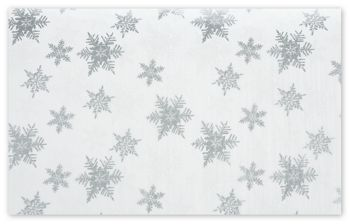 Pearl/Silver Snowflakes Tissue Paper, 20 x 30