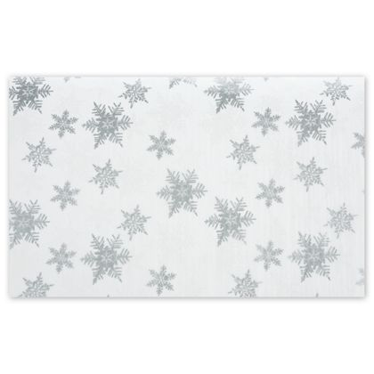 Pearl/Silver Snowflakes Tissue Paper, 20 x 30""