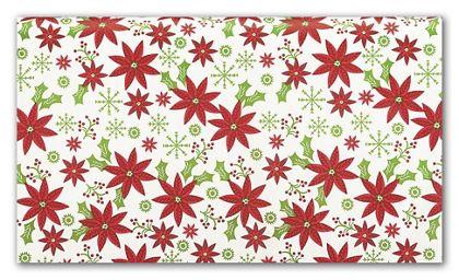 "Poinsettia Tissue Paper, 20 x 30"""