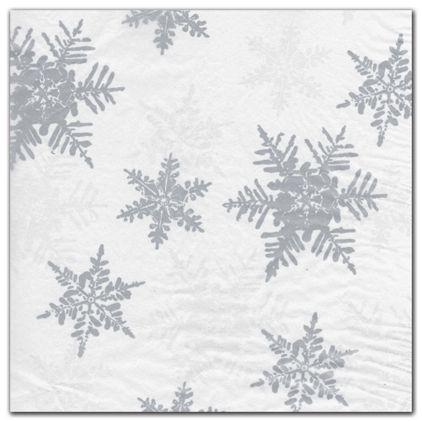 "Pearl/Silver Snowflake Tissue Paper, 20 x 30"""