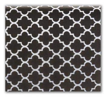 Black Quatrefoil Tissue Paper, 20 x 30