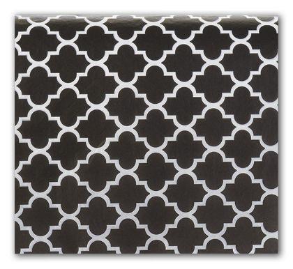 """Black Quatrefoil Tissue Paper, 20 x 30"""""""