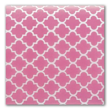 Pink Quatrefoil Tissue Paper, 20 x 30