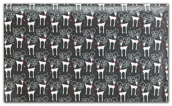 Reindeer Plaid Tissue Paper, 20 x 30
