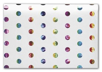 Rainbow Hot Spots Tissue Paper, 20 x 30