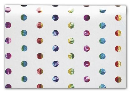 Rainbow Hot Spots Tissue Paper, 20 x 30""