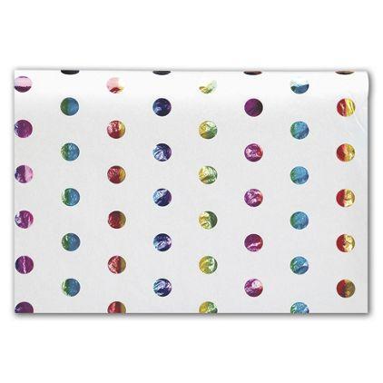 "Rainbow Hot Spots Tissue Paper, 20 x 30"""