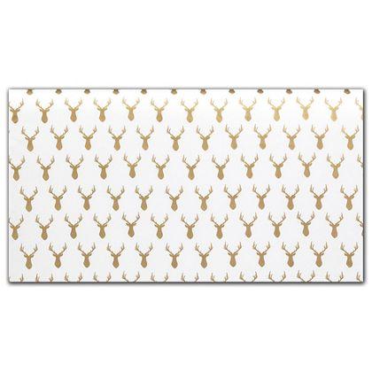 """Rustic Deer Gold Metallic Tissue Paper, 20 x 30"""""""
