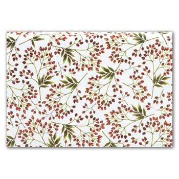 Snow Berries Tissue Paper, 20 x 30