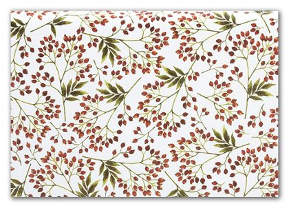 Snow Berries Tissue Paper, 20 x 30""