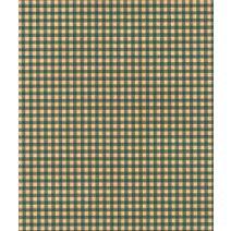 """Gingham Kraft Green Tissue Paper, 20 x 30"""""""