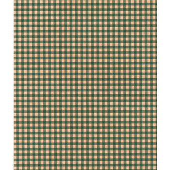 Gingham Kraft Green Tissue Paper, 20 x 30
