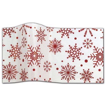 "Spiraling Snowflakes Tissue Paper, 20 x 30"""