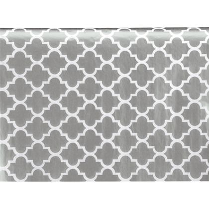 """Silver Ornamental Tissue Paper, 20 x 30"""""""