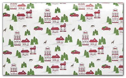 """Winter Village Tissue Paper, 20 x 30"""""""
