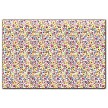 "Watercolor Floral Tissue Paper, 20 x 30"""